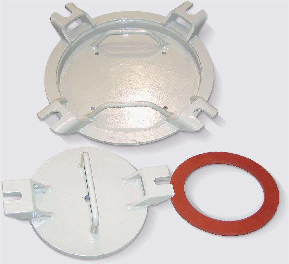 Steel lids for round openings diam. 440 and 220
